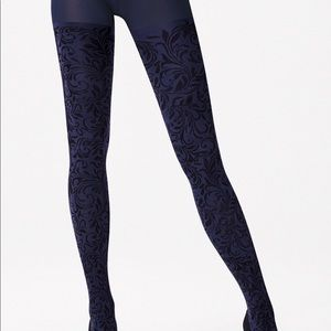 Wolford Sapphire blue Cassandra tights